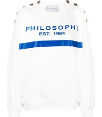philosophy di lorenzo serafini logo print shoulder button sweatshirt -
