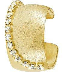 anello in bronzo dorato e cristalli per donna