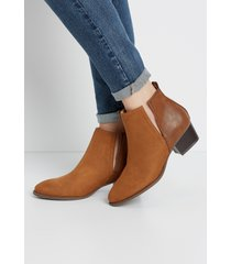 maurices womens alora low cut side ankle bootie brown