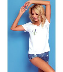 t-shirt lavender flower
