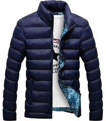 chaqueta casual hombre mountainskin eda104 azul
