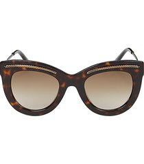 bottega veneta women's 49mm cat eye sunglasses - brown
