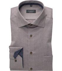 eterna comfort fit overhemd grijs met borstzak