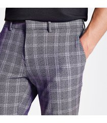 river island mens navy check super skinny cropped trousers