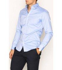 selected homme slhslimnew-mark shirt ls b noos skjortor ljus blå