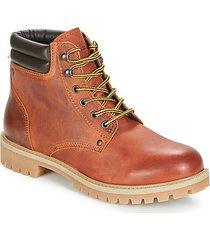 laarzen jack jones stoke leather boot rust