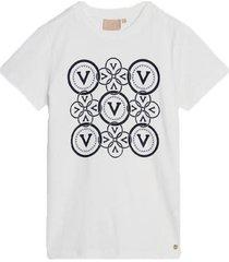 zoe circle v print t-shirt