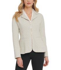 dkny knit zip-up blazer
