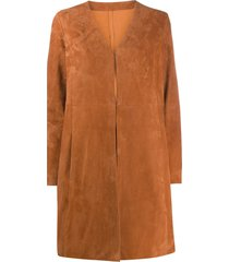 drome structured midi coat - orange