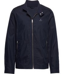 d1. the casual shield jacket dun jack blauw gant