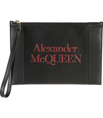 alexander mcqueen signature zip pouch
