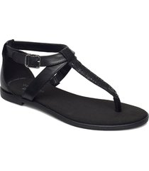 bay post shoes summer shoes flat sandals svart clarks