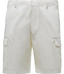 prada side pocket bermuda shorts - white