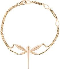 anapsara 18kt rose gold dragonfly chain bracelet - metallic