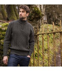 the dunmore aran sweater green m