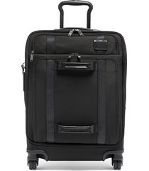 tumi 22-inch front lid recycled wheeled dual access continental carry-on bag - black