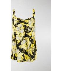 colville floral-print crepe top
