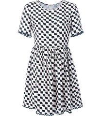 kenzo printed full skirt dress - white