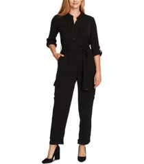 vince camuto belted cuffed-hem jumpsuit