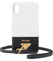 prada wrist strap phone case - white
