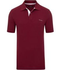 camisa polo pierre cardin piquet essential masculina