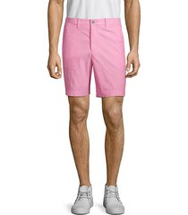 slim-fit oxford shorts