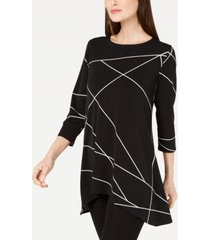 alfani printed high low tunic, created for macy's
