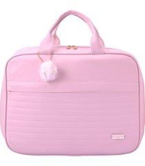 bolsa mala maternidade pirulitando baby nina rosa - rosa - menina - dafiti