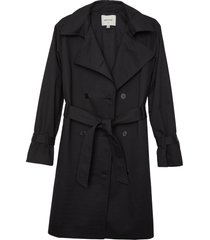 matt & nat ezra vegan trench coat, black