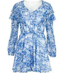 jurk met print athene  blauw