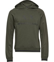 ax man sweatshirt hoodie trui groen armani exchange