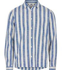 anerkjendt overhemd blauw wit gestreept 9220007/3050