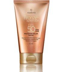 bronze eudora splendor protetor solar facial fps 50 marrom
