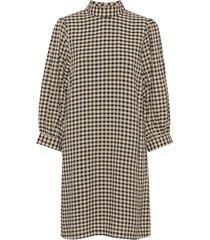 lady check dress av1695