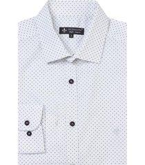 camisa dudalina manga longa tricoline maquinetada estampa geométrica masculina (estampado, 6)
