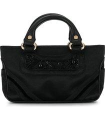céline pre-owned mini boogie beads handbag - black