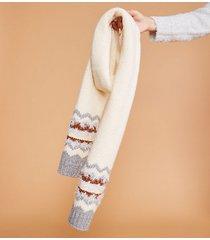 lou & grey frosty fairisle scarf