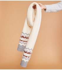 lou & grey frosty fairisle scarf