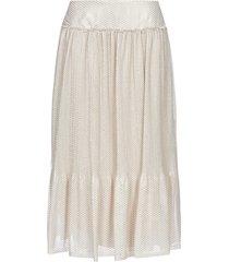 see by chloé lurex-geometric print midi skirt