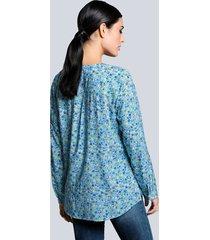 blus alba moda blå::mint::khaki
