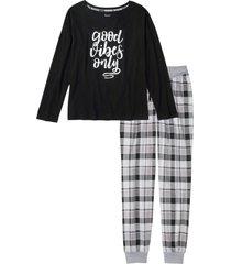 pigiama con maglia oversize (nero) - bpc bonprix collection