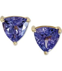 violette by effy tanzanite stud earrings in 14k gold (1 ct. t.w.), created for macy's