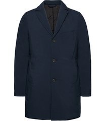 wolger tech padded coat dunne lange jas blauw j. lindeberg