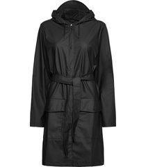 belt jacket outerwear rainwear rain coats svart rains