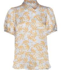 sello ss shirt blouses short-sleeved second female