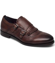 double monk strap shoe shoes business monks brun tga by ahler