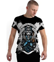 camiseta stompy new collection chopper rebels preto - kanui