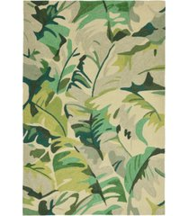 liora manne' capri 1668 palm leaf 2' x 8' indoor/outdoor runner area rug