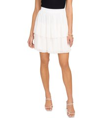 women's 1.state tiered pleated midi skirt, size large - white