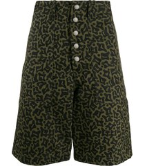 marni camo cells print bermuda shorts - green